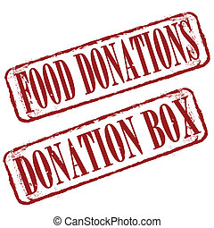 food donations stamp