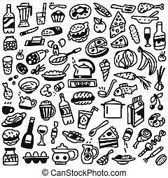 Food - doodles set