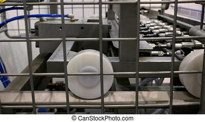 Food factory automated robotic production line - Food...