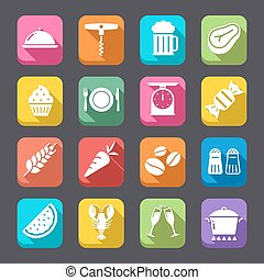 Food Flat Icons Collection 2