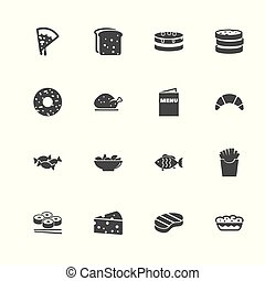 Food - Flat Vector Icons