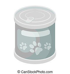 Food for animals.Pet shop single icon in black style vector symbol stock illustration web.