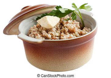 Food for health and beauty. Fresh porridge