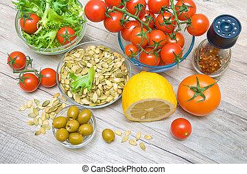 Food for the preparation of vegetable salad