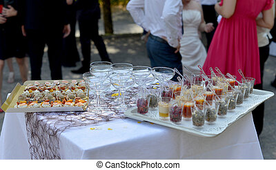 food for the wedding cocktail