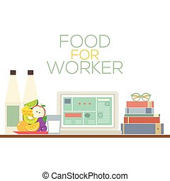 Food For Worker Healthy Food.