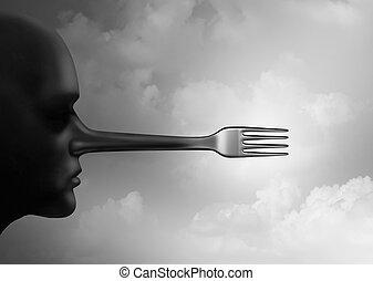 Food Fraud - Food fraud concept and fake foods or...