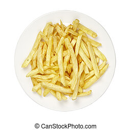 food french fries in plate