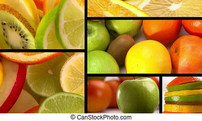 Food, Fresh fruits, composition