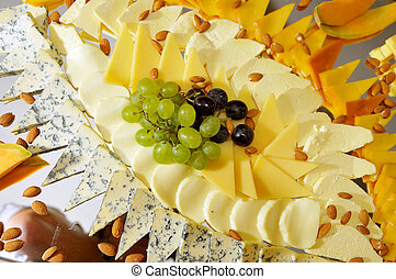Food, fresh, health, vegetarian, eating, cheese,  grape, fruit,
