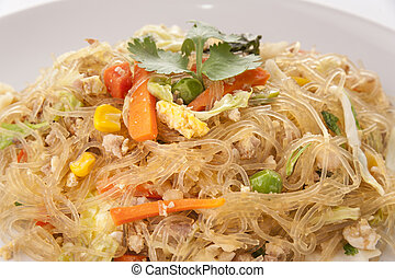 Fried vermicelli noodle or Pad Wun Sen