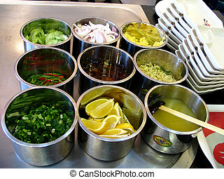 Food from a buffet - Food from a Chinese buffet