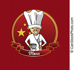 Food from China menu poster. - Chinese cook typical food...