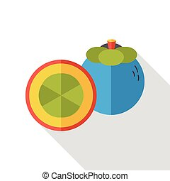 food fruits flat icon