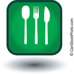 Food glow green icon