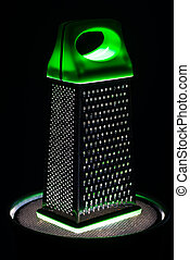 Food grater with green handle