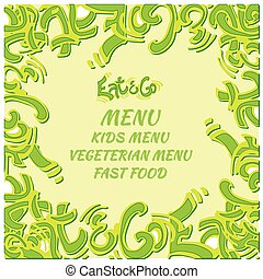 Food hand draw sign logo icon design.