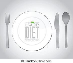 food healthy diet concept illustration design