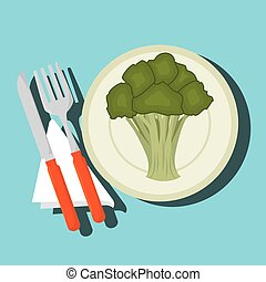 food healthy plate fork