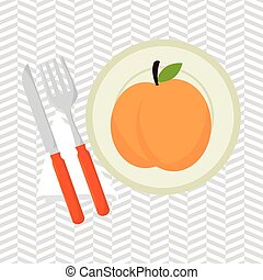 food healthy plate fork