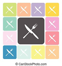 Food Icon color set vector illustration