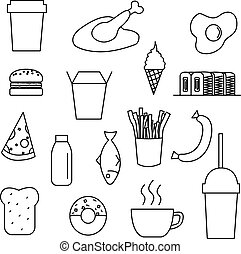 Food icon set vector illustration