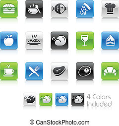 Food Icons - 1 // Clean Series - The Vector file includes 4...