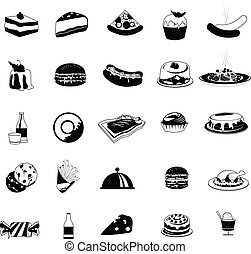 food icons for restaurant, dining, eatery and others