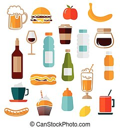 Food icons - food labels
