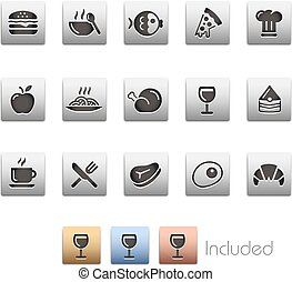 Food Icons - Set 1 of 2 -- Metalbox - The set includes 4...