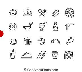 Food Icons - Set 2 of 2 // Red Point Series