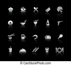 Food Icons - Set 2 -- Silver Series