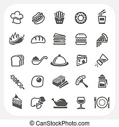 Food icons set, EPS10, Don't use transparency.