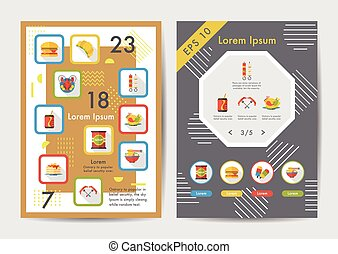 Food icons set with long shadow,eps10