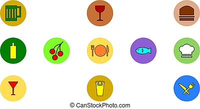 Food icons - Rounded food icon
