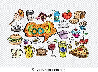 food ikona, vektor, dát