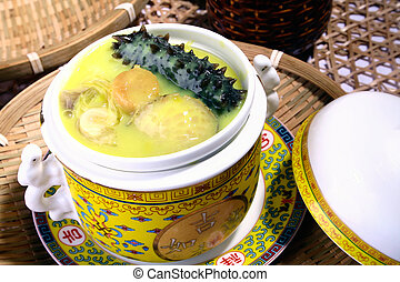 food in china??sea slug and abalone - china delicious...