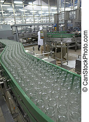 interior of food industry production of beverages