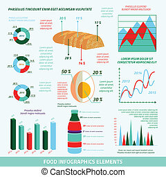 Food infographic elements