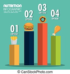 food infographic icons vector illustration eps 10
