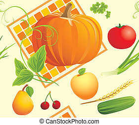 Food ingredients. Background