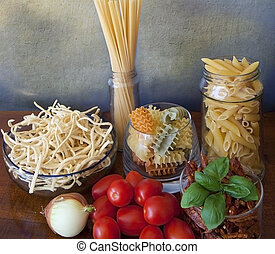 Food ingredients for Italian recipes