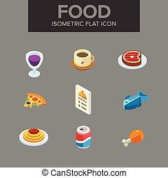 Food isometric icon