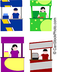 Food cart stalls, kiosk