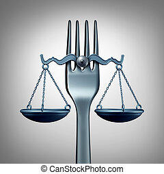 Food Law - Food law and legal regulations concept with a...