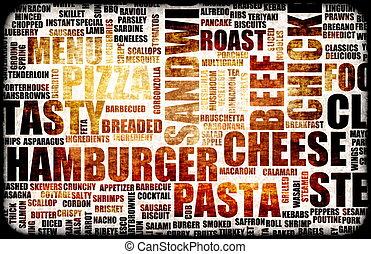 Food Menu Background as Grunge Template Mat