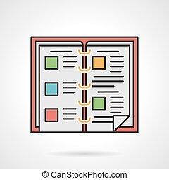 Food menu flat color vector icon