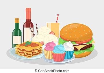 Food menu for the party. Delicious snack