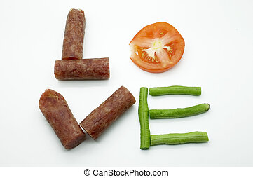 Food message love