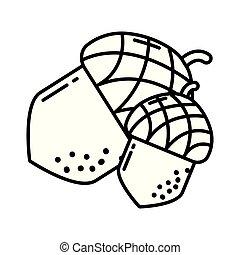 food nut cartoon